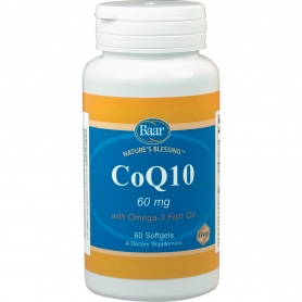 CoQ10 with Omega-3 Fish Oil Softgels for a healthy heart