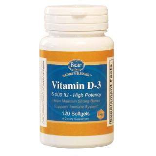 Vitamin D-3, 5,000 IU Softgels