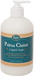 Palma Christi Liquid Soap helps keep skin soft and supple product 10007.