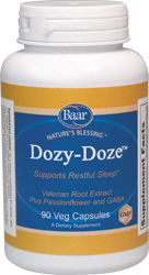 Dozy-Doze, Restful Sleep Support Supplement Bottle