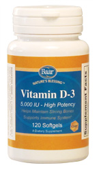 Vitamin D-3, 5,000 IU Softgels