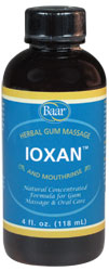 Ioxan, herbal tooth and gum massage.