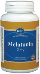 Melatonin, 3 mg, for sleep