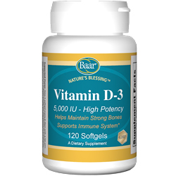 High Potency Vitamin D-3 Softgels