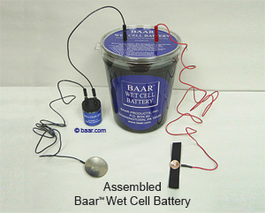 Assembled Baar Wet Cell Battery